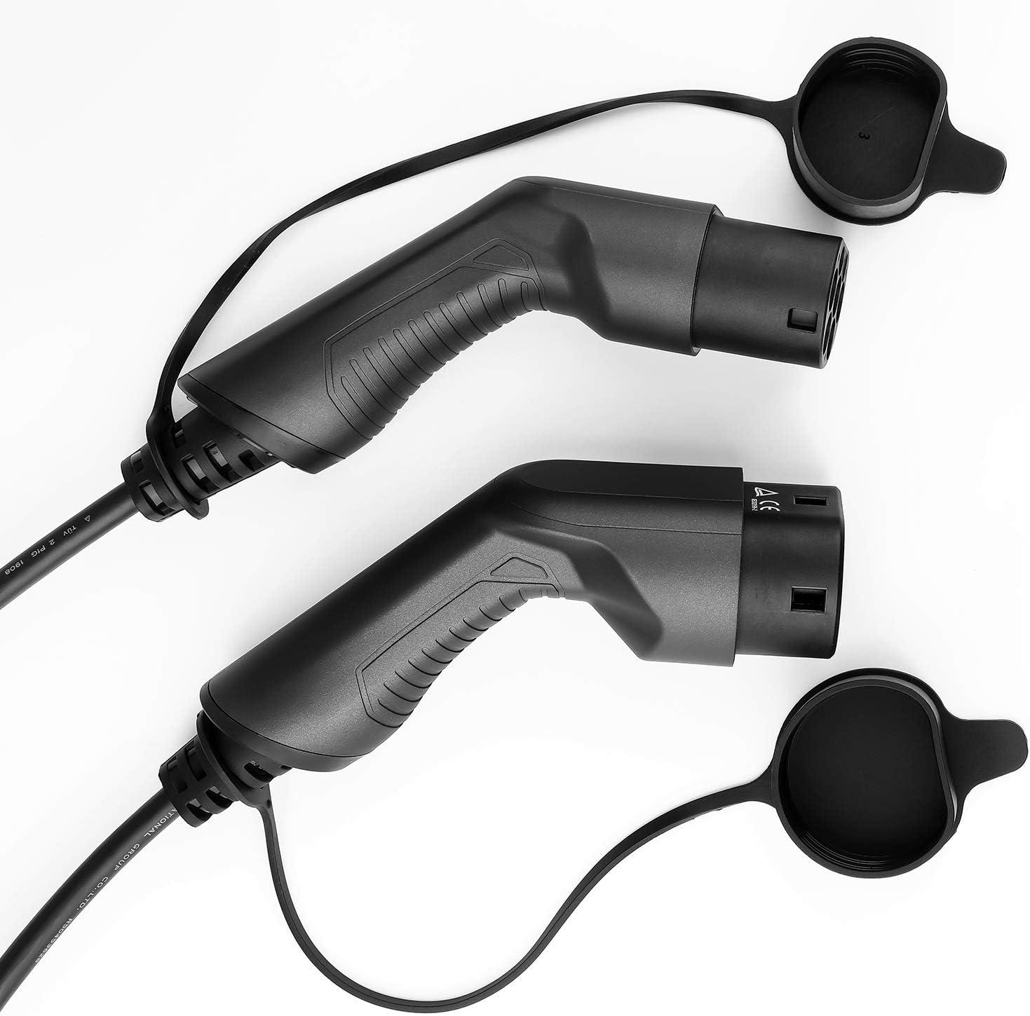 LEFANEV Elektrisches Auto Kabel f/ür EV Charger Ladestation Typ 2 zu Typ 2 IEC 62196-2 EV Ladekabel Typ 2 zu Typ 2, 16A//Einphasig IEC 62196-2