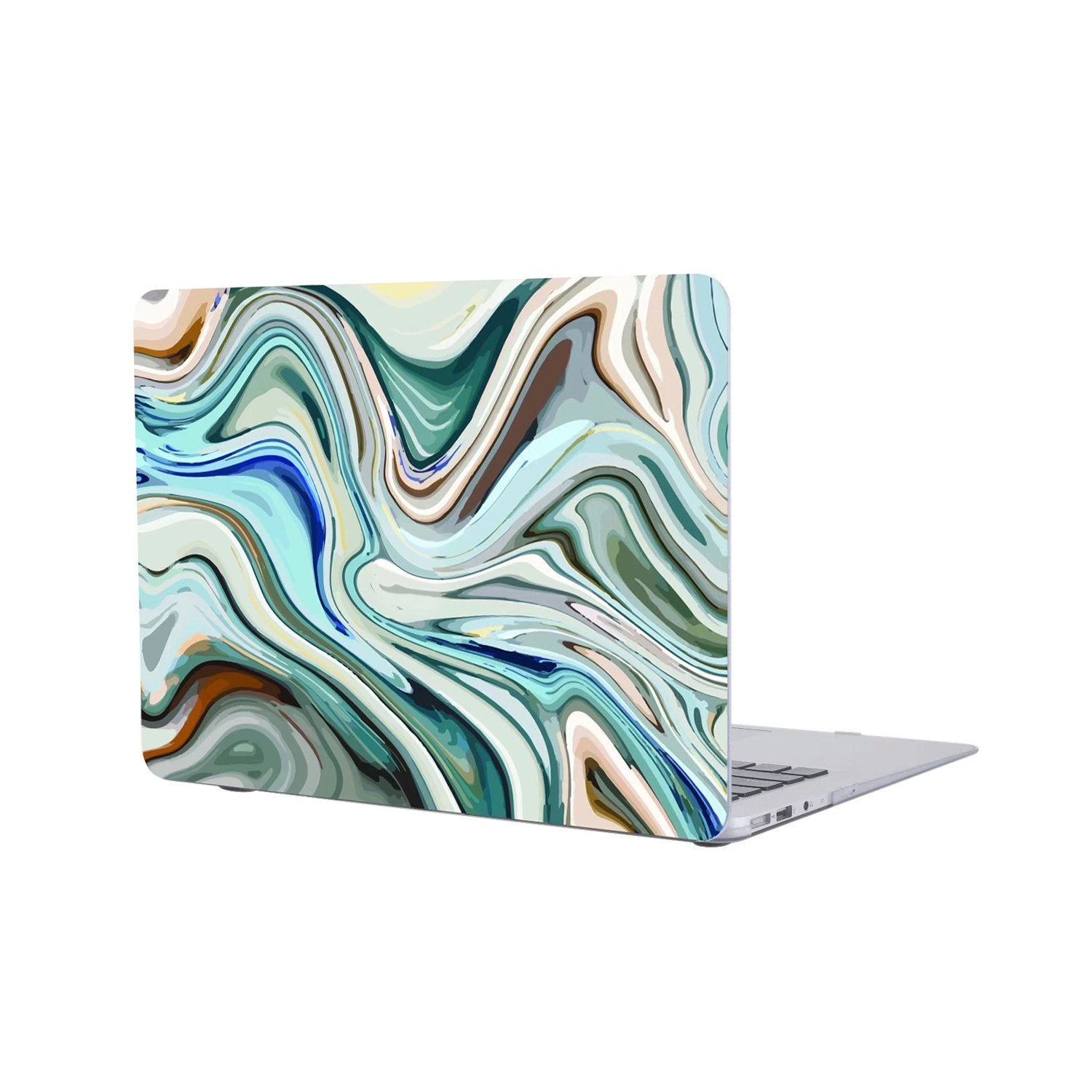 Masino Marbling Series Hard Shell Case Protective Laptop Cover for MacBook Pro 13'' with/without Touch Bar (A1706 & A1708)- 2016 Released (Mac Pro 13'' A1706/A1708, Marbling- Multi Blue)