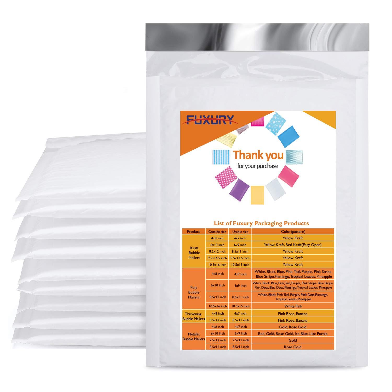 Pack de 25 sobres de burbuja 15 x 25.5 cm (Blanco)