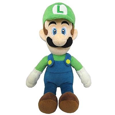 "Sanei Super Mario All Star Collection 10"" Luigi Plush, Small: Toys & Games"