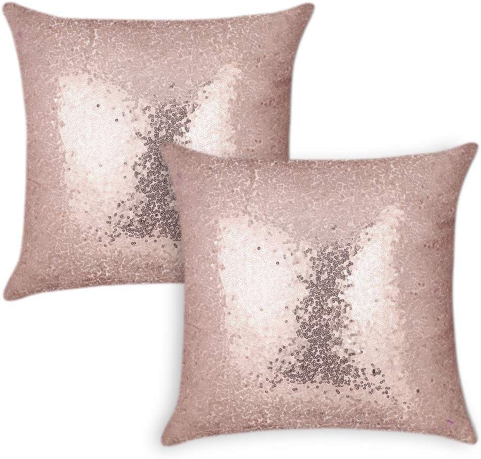"16x16/"" Mongolian Fur Pillow Case 40x40cm Square Pink Fur Cushion Cover"