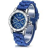 Time100 Fashion Diamond Multifunction Silicone Strap Ladies Quartz Watch # W50248L.05A