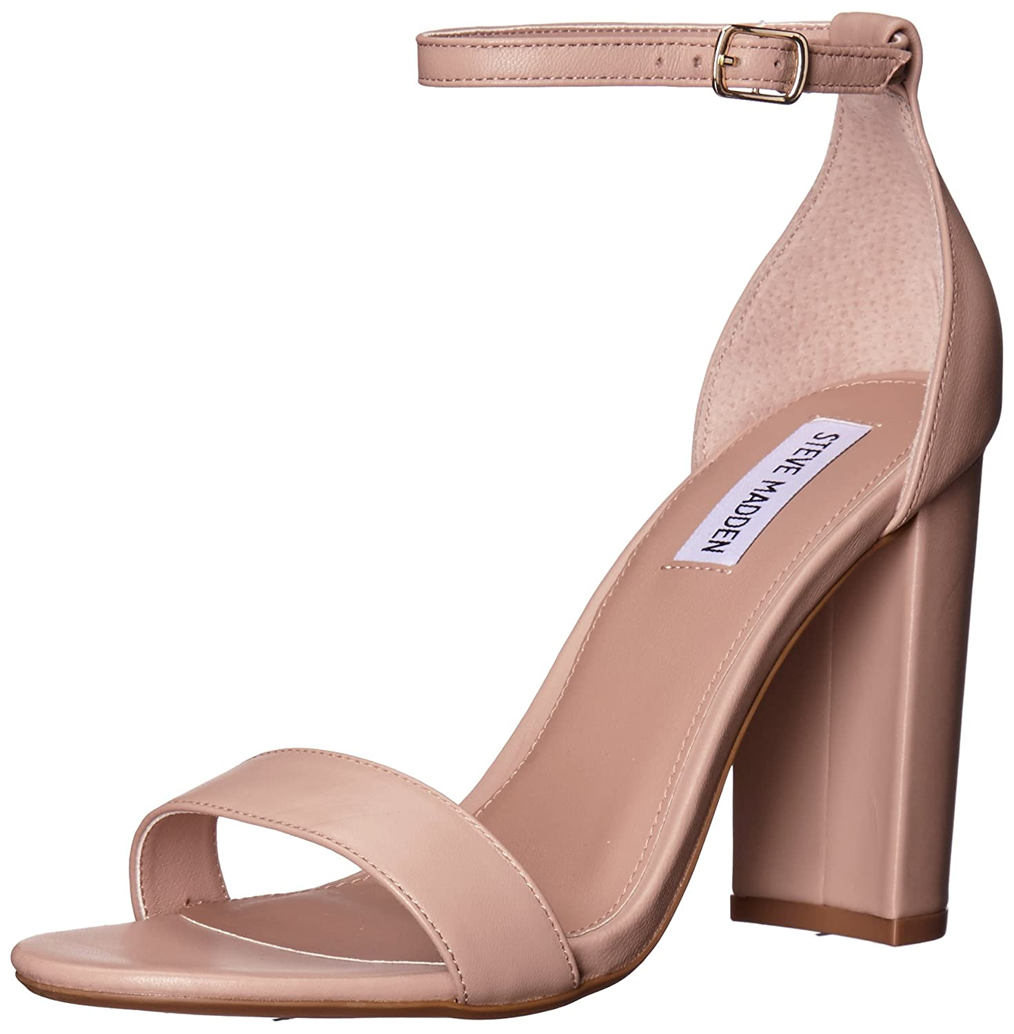 Steve Madden Women's Carrson Dress Sandal B0788BTQ1D 4 B(M) US|Blush Leather