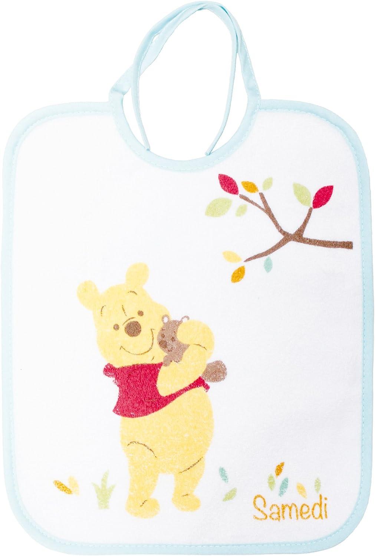 Babycalin Lot de 7 Bavoirs Naissance Winnie 22 x 27 cm DIS201707