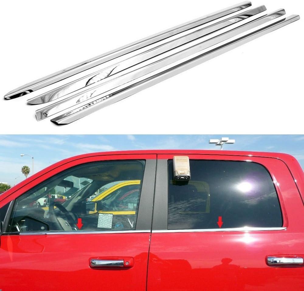 4PCS 2010-2016 Chevrolet Silverado 1500 2500 Stainless Steel Door Sill Guards