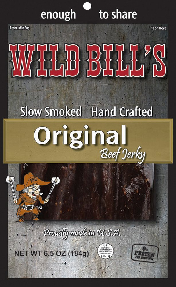 Wild Bill's 6.5oz Hickory Smoked Beef Jerky Pack (re-sealable)