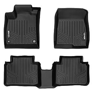 SMARTLINER Custom Fit Floor Mats 2 Row Liner Set Black for 2018-2019 Honda Accord - All Models