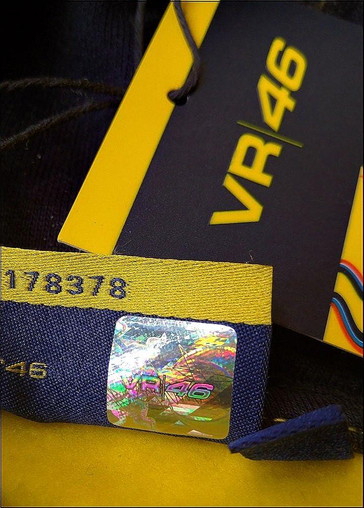 Sudadera con cremallera de Valentino Rosso modelo VR 46 en color amarillo y azul marino