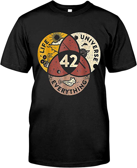 MSP lisado 42 The Answer to Life The Universe and Everything Mathematical T-Shirt | Amazon.com