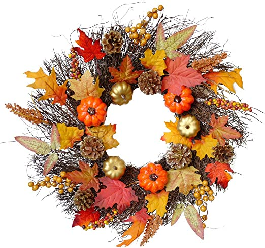 Wreath Halloween 2020 Amazon.com: AXEDENRT Christmas Wreath Decoration Halloween