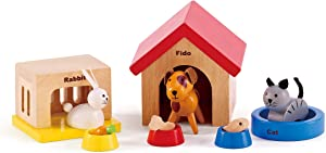 related image of             Family Pets Wooden Dollhouse Animal Set by