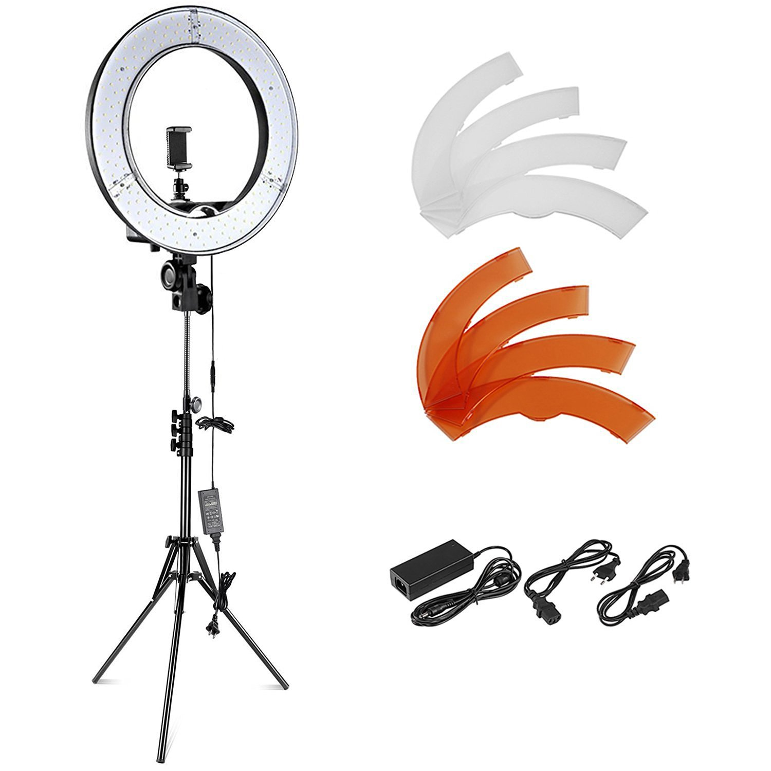 Neewer Camera Photo Video Lighting Kit: 18 inches/48 centimeters Dimmable LED Ring Light