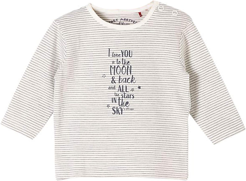 s.Oliver Baby Unisex Langarmshirt gestreift in Creme 02G5