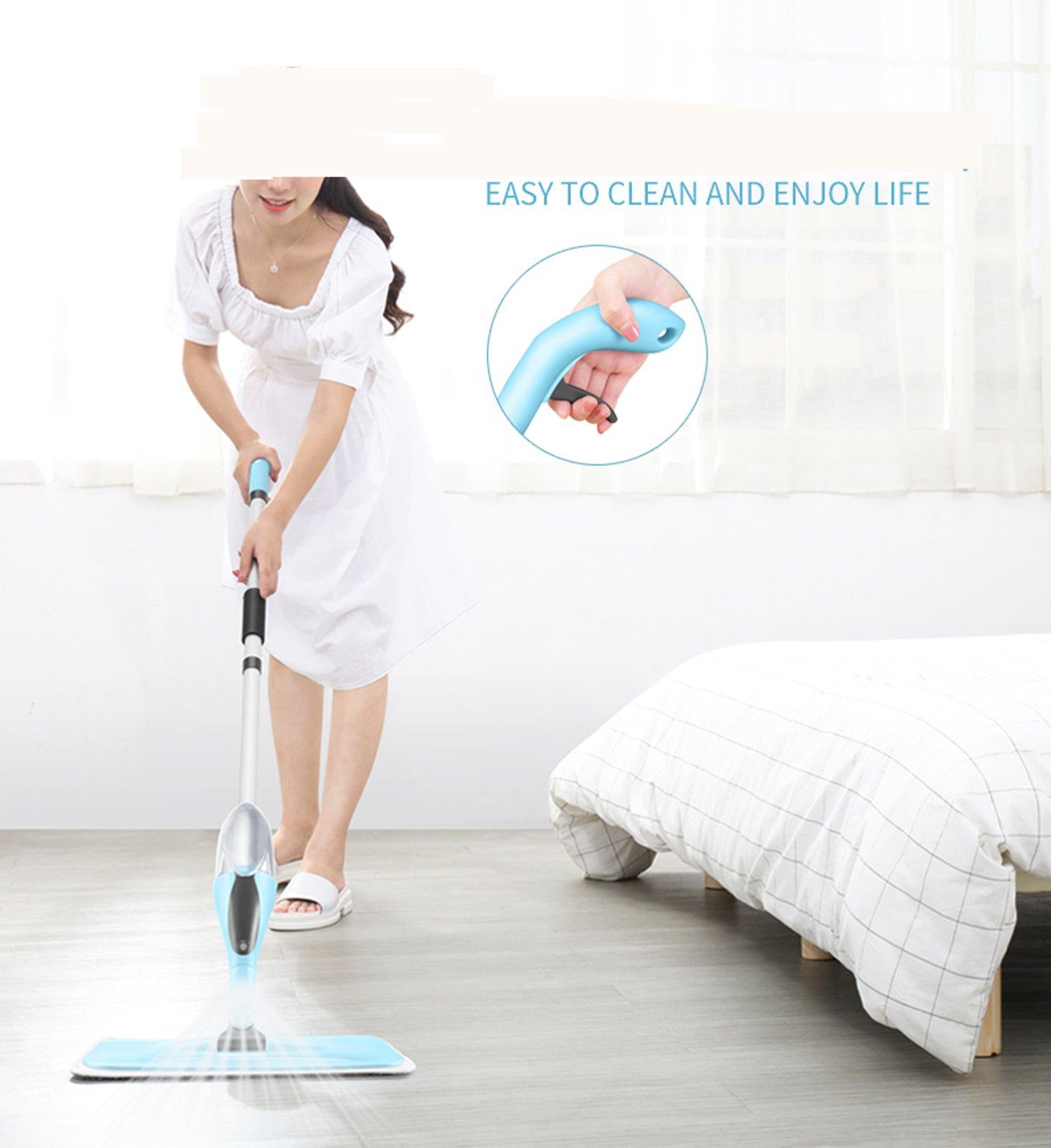 FreedomDesign Microfiber Hardwood Floor Spray Mop 360 Degree Professional Spray Mop for House Kitchen Hardwood Ceramic Floor Includes: Reusable Microfiber Pads (Blue) by FreedomDesign (Image #2)