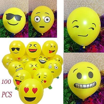 Amazon Cloudga 100PCS Cute Smiley Yellow Birthday Party Wedding
