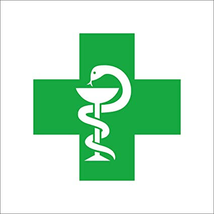 Isee 360 Pharmacist Logo Plus Reflective Car Decal Sticker Green