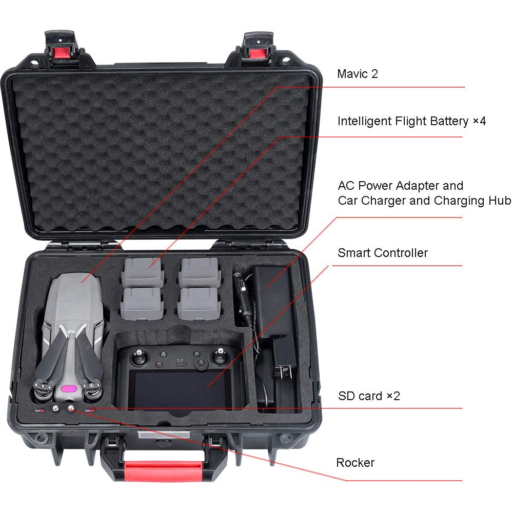 Smatree Carrying Case Compatible with DJI Mavic 2 Pro/DJI Mavic 2 Zoom and DJI Smart Controller by Smatree (Image #2)