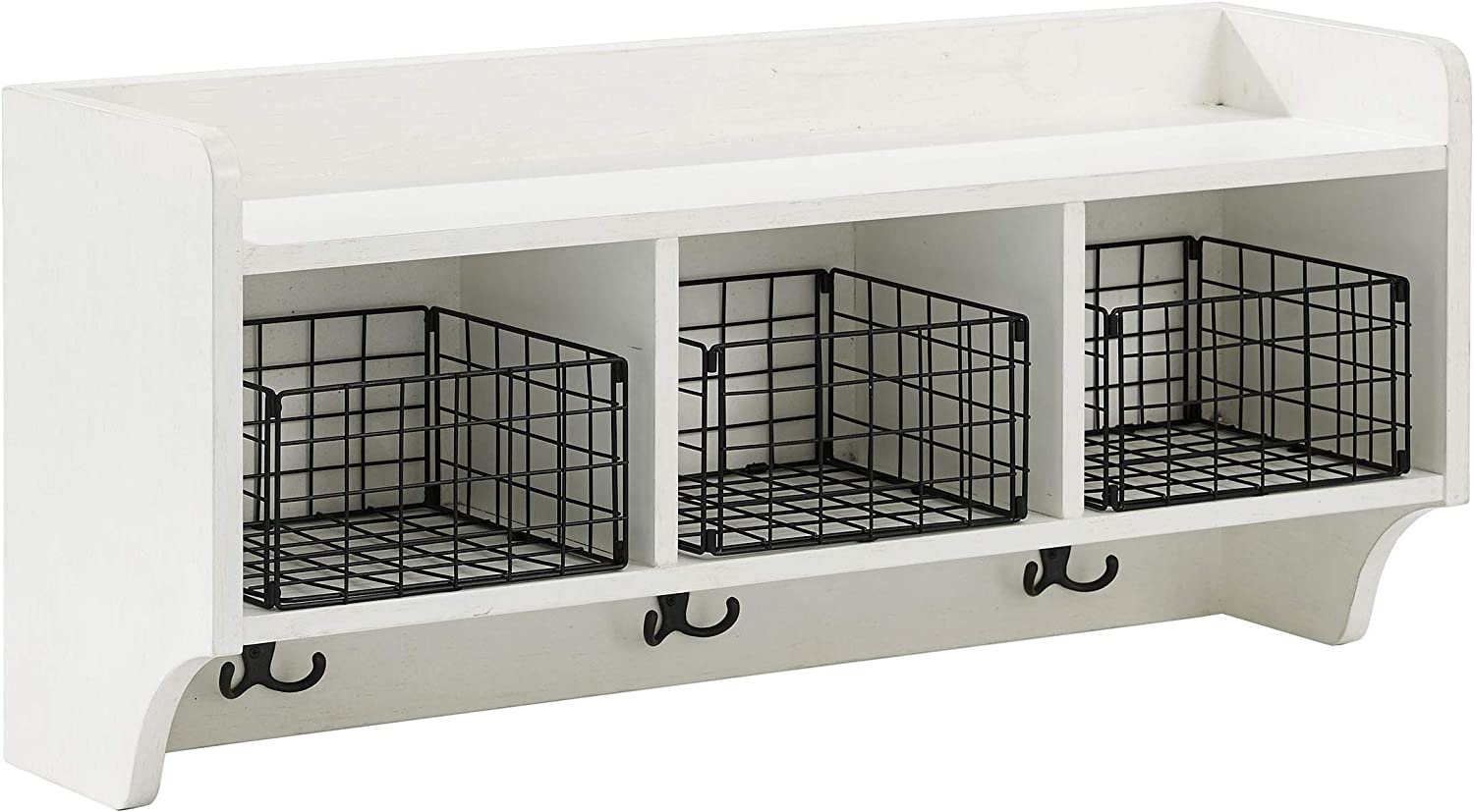 Crosley Furniture CF6018-WH Fremont Entryway Shelf, Distressed White