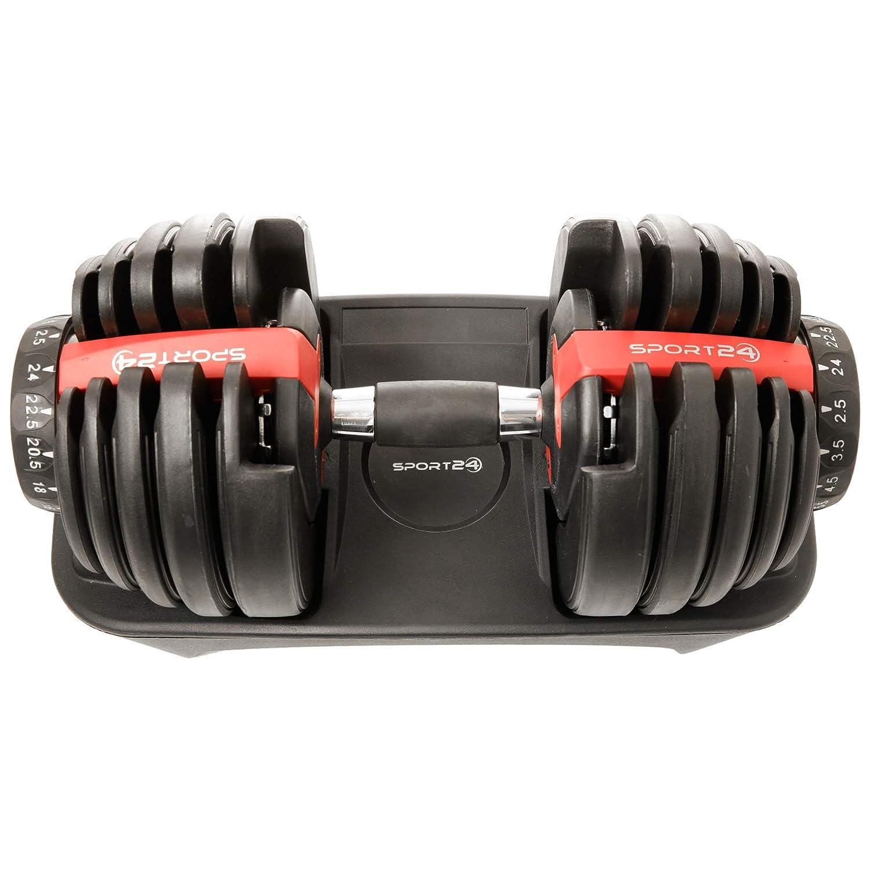 Sport24 Set de Mancuernas de Peso Ajustable-Discos con Peso, Juego de Pesas para Trabajar Bíceps Fitness Musculación Fisicoculturismo Entrenamiento 2,5kg ...