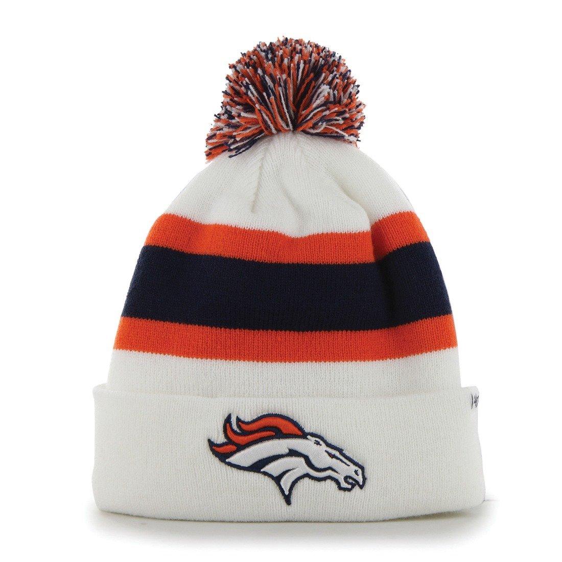 Amazon.com    47 Denver Broncos Brand White Breakaway Knit Hat   Sports    Outdoors 373e0bf21