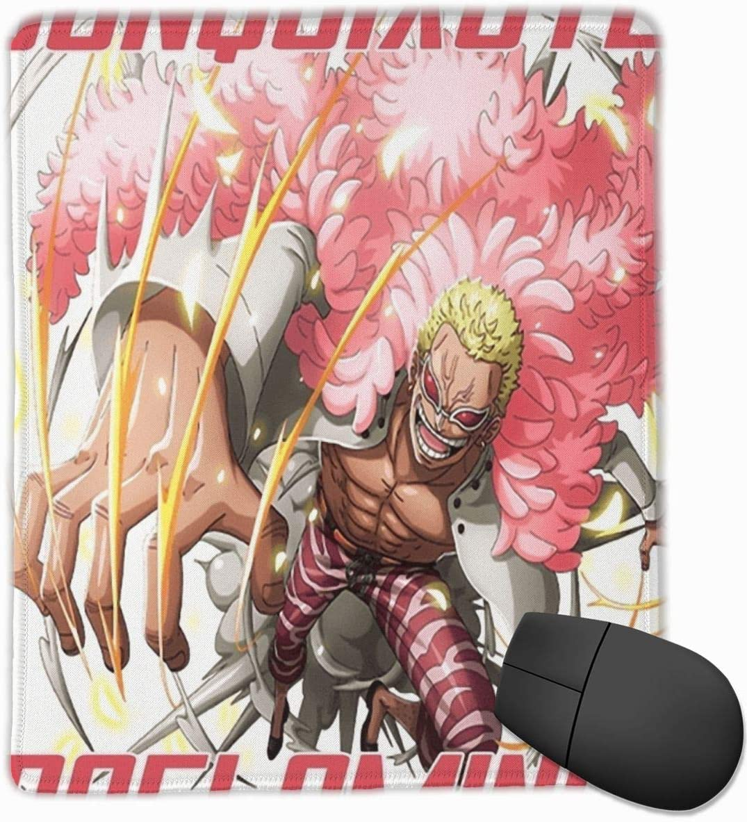 KEEHUA Doflamingo Attacks Graphic Non-Slip Rubber Mousepad Gaming Mouse Pad with Stitched Edge 10x12 in