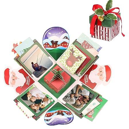 EKKONG Explosion Box, Christmas Explosion Box Creativo DIY Álbum de Fotos Scrapbook Caja Regalo para Cumpleaños Día de San Valentín Aniversario ...