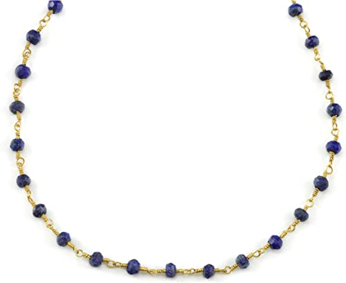 "14k Yellow Gold /& Lapis 18"" Necklace"