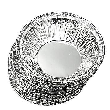 50 Piezas Molde para Tarta de Huevo,TININNA Profesional Moldes Copa de Horneado,Desechables Papel de Aluminio para Molde de Magdalenas: Amazon.es: Hogar