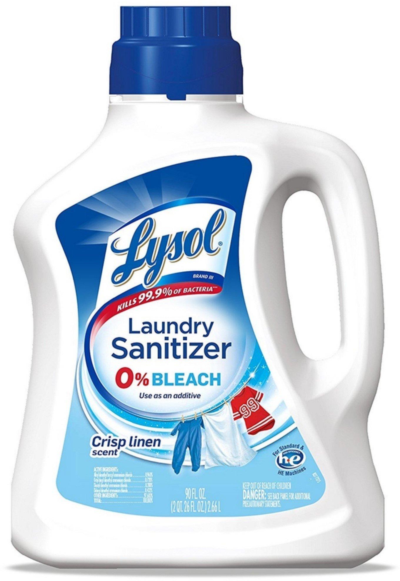 Lysol Laundry Sanitizer Additive, Crisp Linen, 90 oz