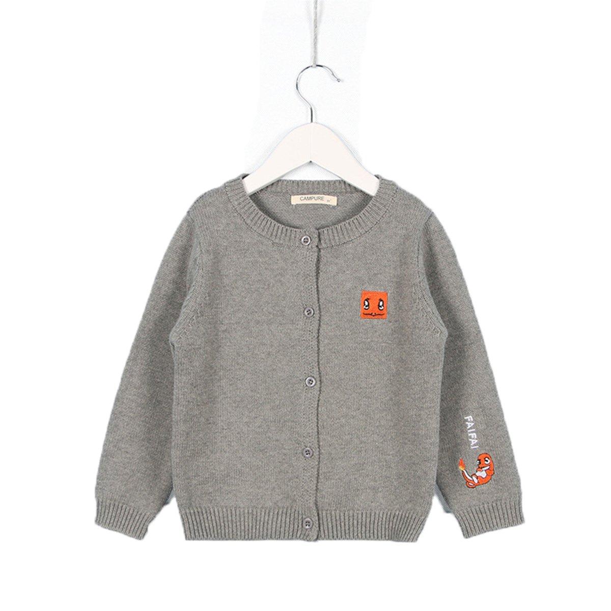 Lemonkid Trendy Unisex Kids Cotton Thicken Cartoon Pokemon Cardigan Sweater Coat 80cm/fit 12-18 Months