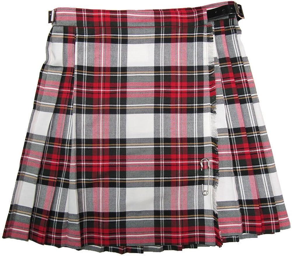 GIRLS Circle TARTAN Check Skirt ELASTICATED Waist Highland DANCE Burns Night