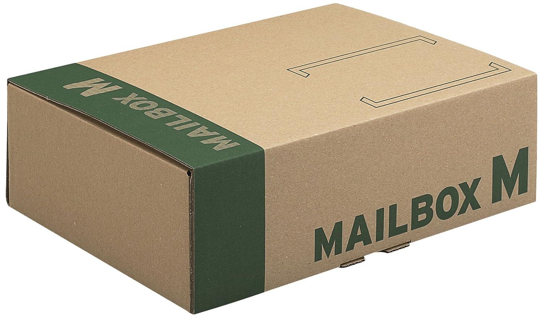 progressCARGO PC MB07.04 - Cartone per spedizioni postali Mailbox, formato DIN C4, confezione da 20, 331 x 241 x 104 mm, colore: Marrone progress packaging GmbH Mailbox M
