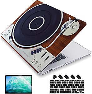 Maychen MacBook Air 13.3 Inch Case Model:A1466 A1369 (2010-2017 Release), Keyboard Cover + Screen Protector + Dust Plug Hard Shell Case - Retro Music