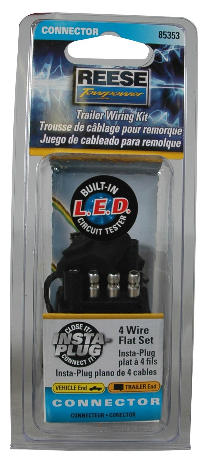 Reese Towpower 85353 Trailer Wiring Kit Automotive Wire Flat Connector Vehicle To 4