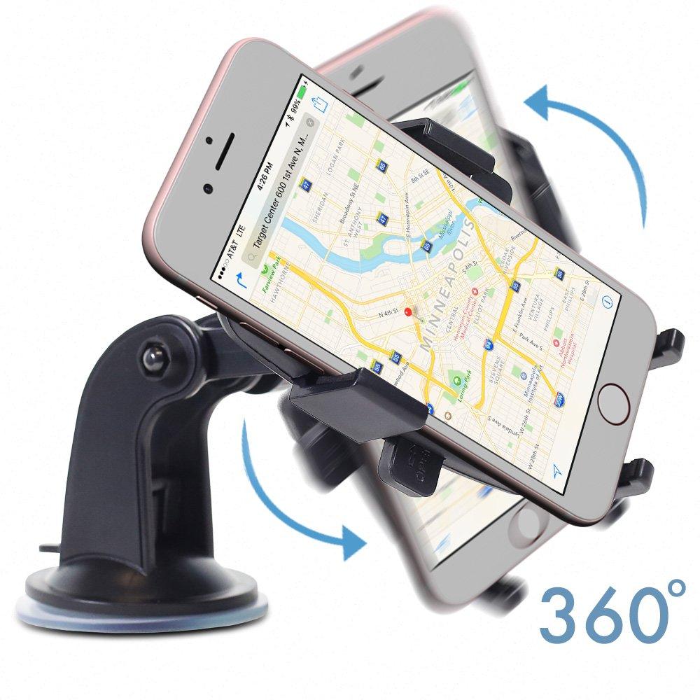 a7aa7532118 Car Phone Holder, GreatShield Quick Grip Windshield  Amazon.co.uk   Electronics