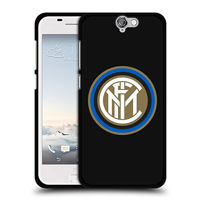 Superbe Official Inter Milan Badge Various Designs Black Soft Gel Case For HTC One  A9