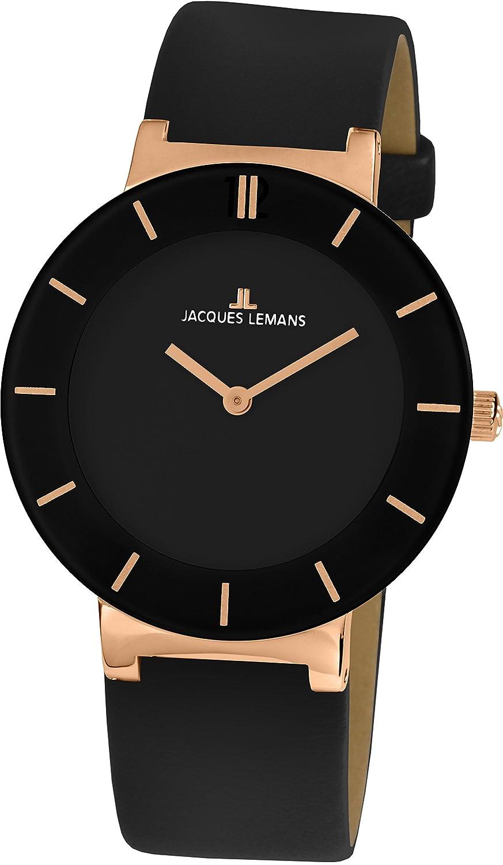 Jacques Lemans Damen-Armbanduhr Monaco Analog Quarz Leder 1-1867C