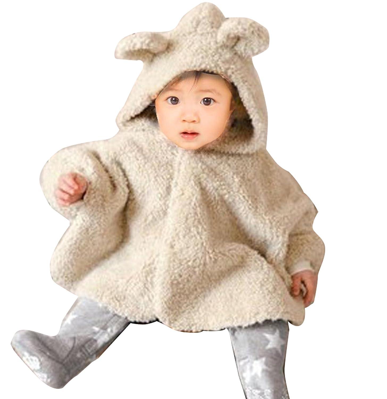 Warm Winter Kid Baby Boy Girl Cloak Hoodie Rabbit Cloak Coat Snowsuit Outwear