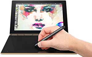 "Lenovo Yoga Book 10.1"" 2 in 1 Convertible Full HD IPS Touchscreen Laptop/Tablet with Pen Stylus - Intel Quad-Core x5-Z8550, 4GB RAM, 64GB SSD, Halo Keyboard, 802.11ac, Bluetooth, Android- Gold"