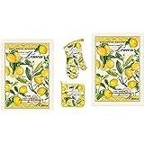 Michel Design Works Lemon Basil 4 Piece Kitchen Set - 2 Towels, Oven Mitt, Potholder