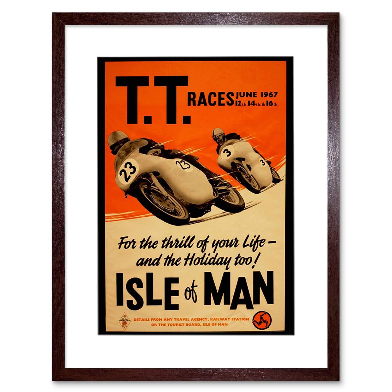 AD Motorbike Bikes ISLE of Man TT Races 1967 Frame Art Print Picture F12X119 The Art Stop