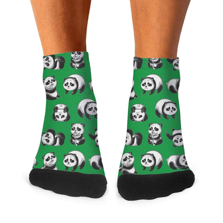 Mens Athletic Low Cut Ankle Sock Pandas Cartoon Pattern Gifts Short Comfort Sock