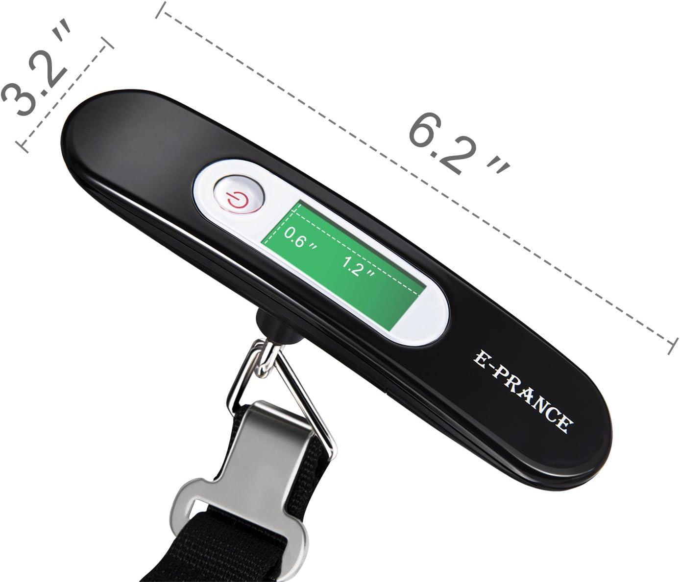 Tresse ceinture Pas de lumi/ère LINSUNG P/èse Bagage Electronique Gris