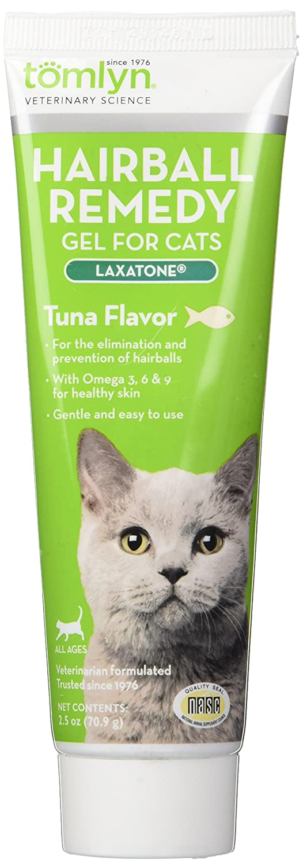 Tomlyn Hairball Remedy Gel for Cats, Tuna Flavor, (Laxatone) 4.25 oz Vétoquinol USA OTC 410621