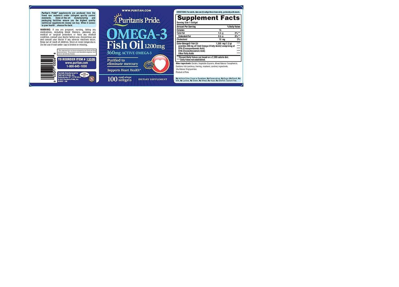 Amazon.com: Puritan s Pride softgels nutricional, aceite de ...