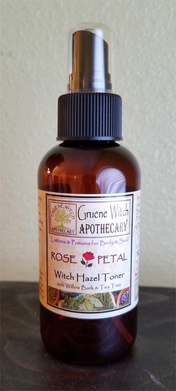 Witch Hazel Toner w/ Willow Bark & Tea Tree - Rose Petal
