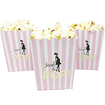 Amazon Soon To Pop Popcorn Favor Box For Baby Shower Party