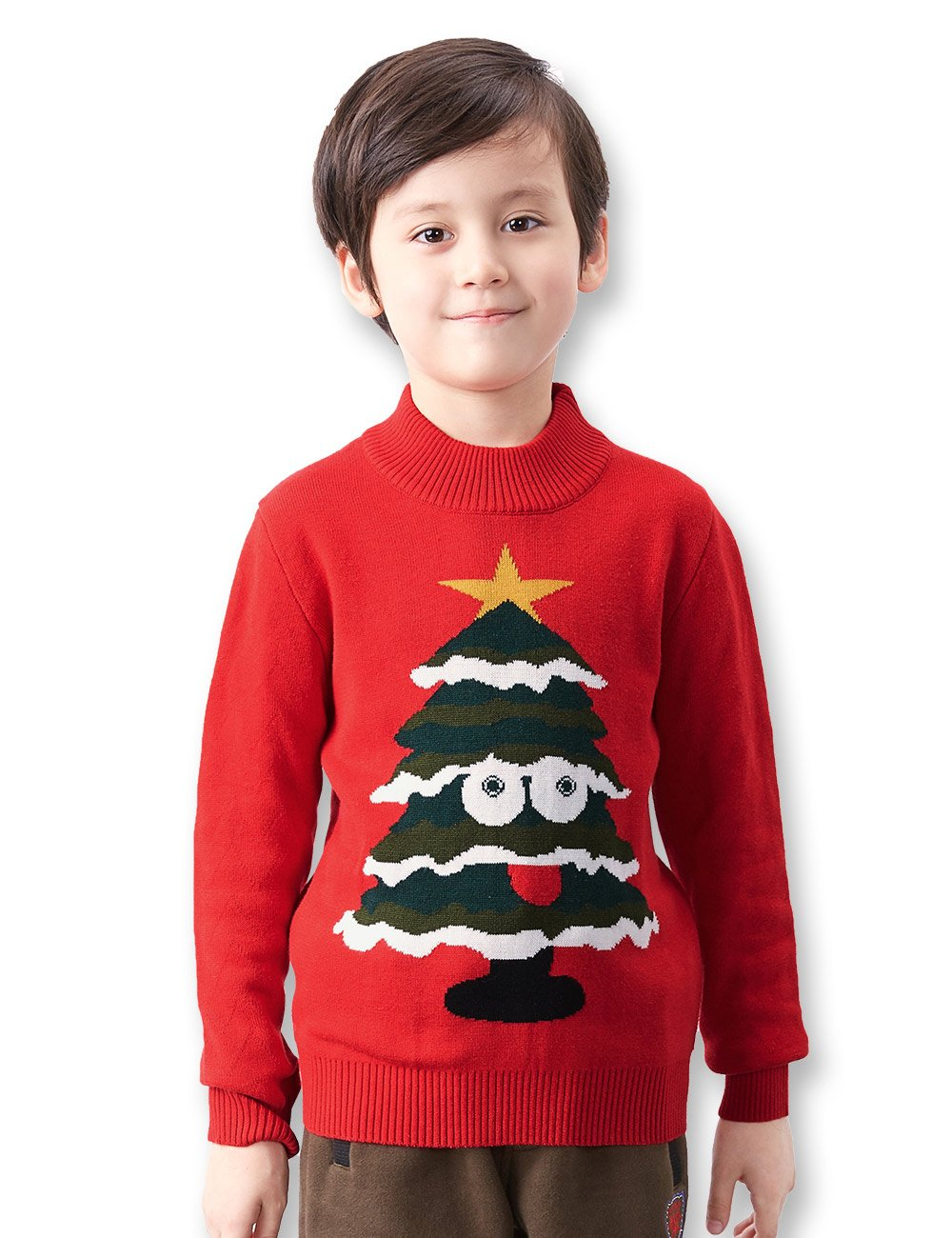 BYCR Boys Cute Smile Tree Knit Pullover Sweater Kids 3-12 Yrs No. 7167100512