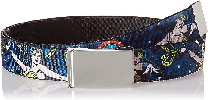 Buckle Down Herren Web Belt Wonder Woman 1 25 Gürtel Mehrfarbig 3 Cm Breit 107 Cm Hosengröße Bekleidung