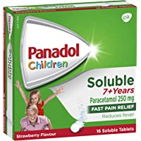 Panadol Children 7+ Years Fever & Pain Relief Strawberry Soluble Tablets, Strawberry 16 count